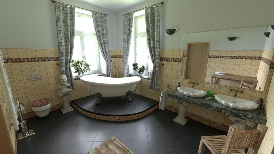 Badezimmer im antiken Stil